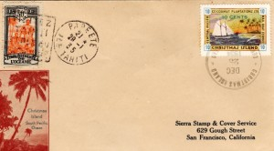 Rougier letter postage to Christmas